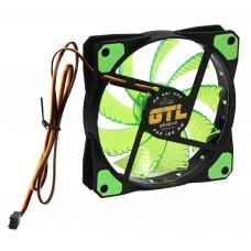 Вентилятор 120 mm GTL LED Green, 120x120x25мм, 2500 об/мин, 3 pin
